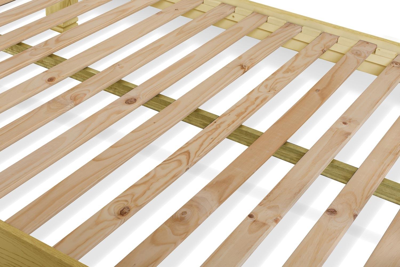 Lancaster Bed Frame   4ft6   Aged Cream/Oak