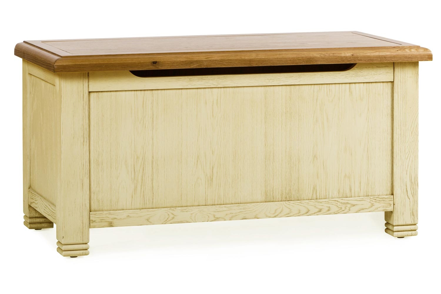 Lancaster Blanket Box | Aged Cream/Oak