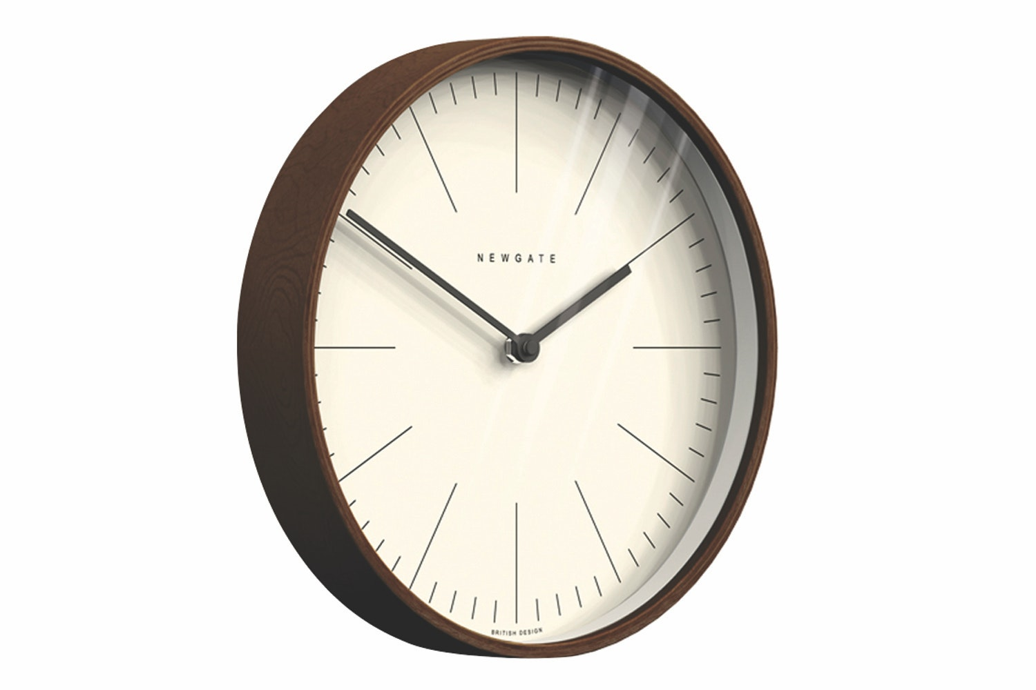 Mr Clarke Clock - Dark Wood Marker Dial with Dark Wood Case