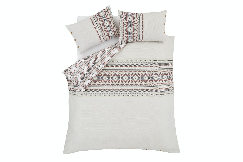 Brushed Printed Knit Duvet Set | Double