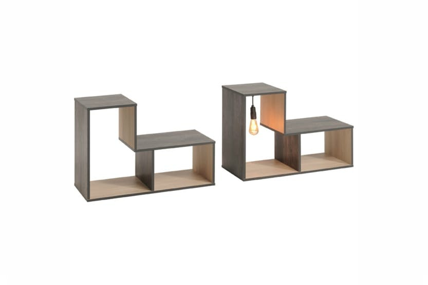 Edison Bookcase X 2 Open Storage | Low
