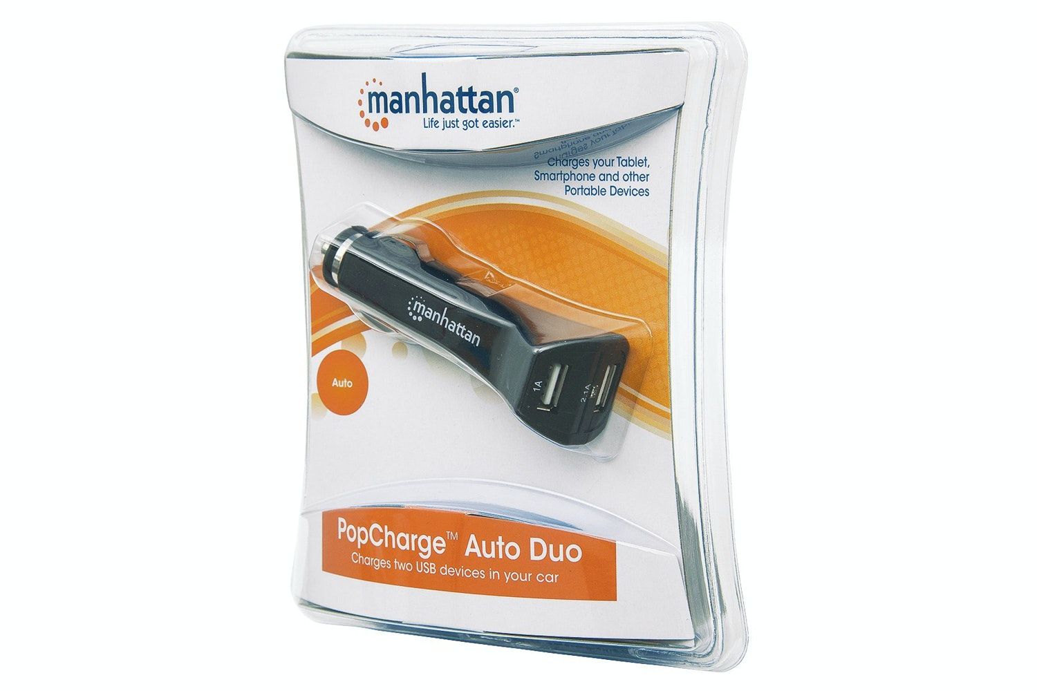 Manhattan PopCharge Auto Duo Car USB Charger