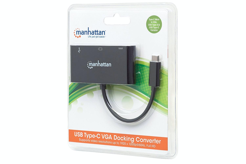 Manhattan USB Type-C VGA Docking Hub
