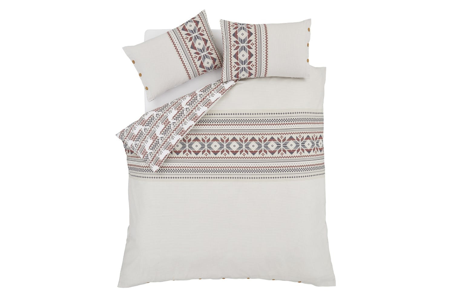 Brushed Printed Knit Duvet Cover Set | King