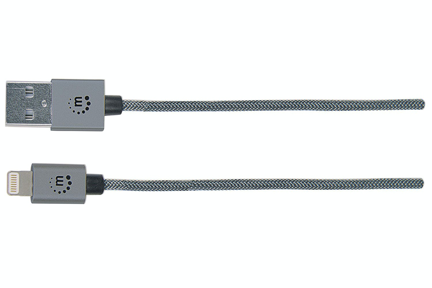 Manhattan iLynk Steel Grey Lightning Cable | 1m