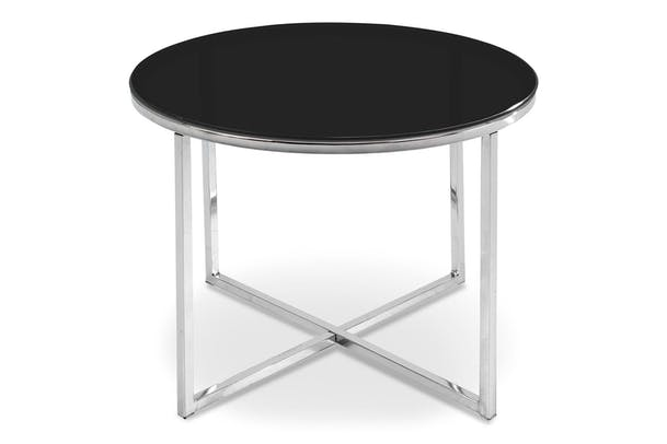 Cross Lamp Table Round | Black