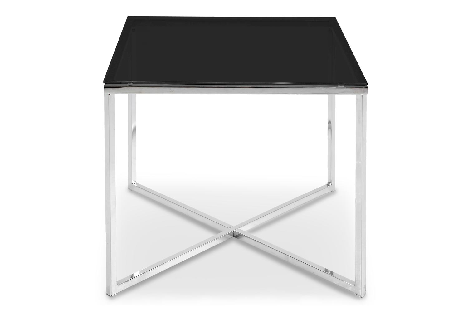 Cross Lamp Table Square | Black