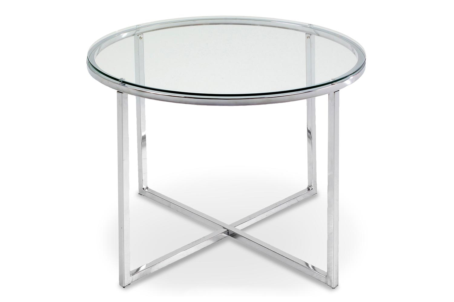 Cross Lamp Table Round | Clear