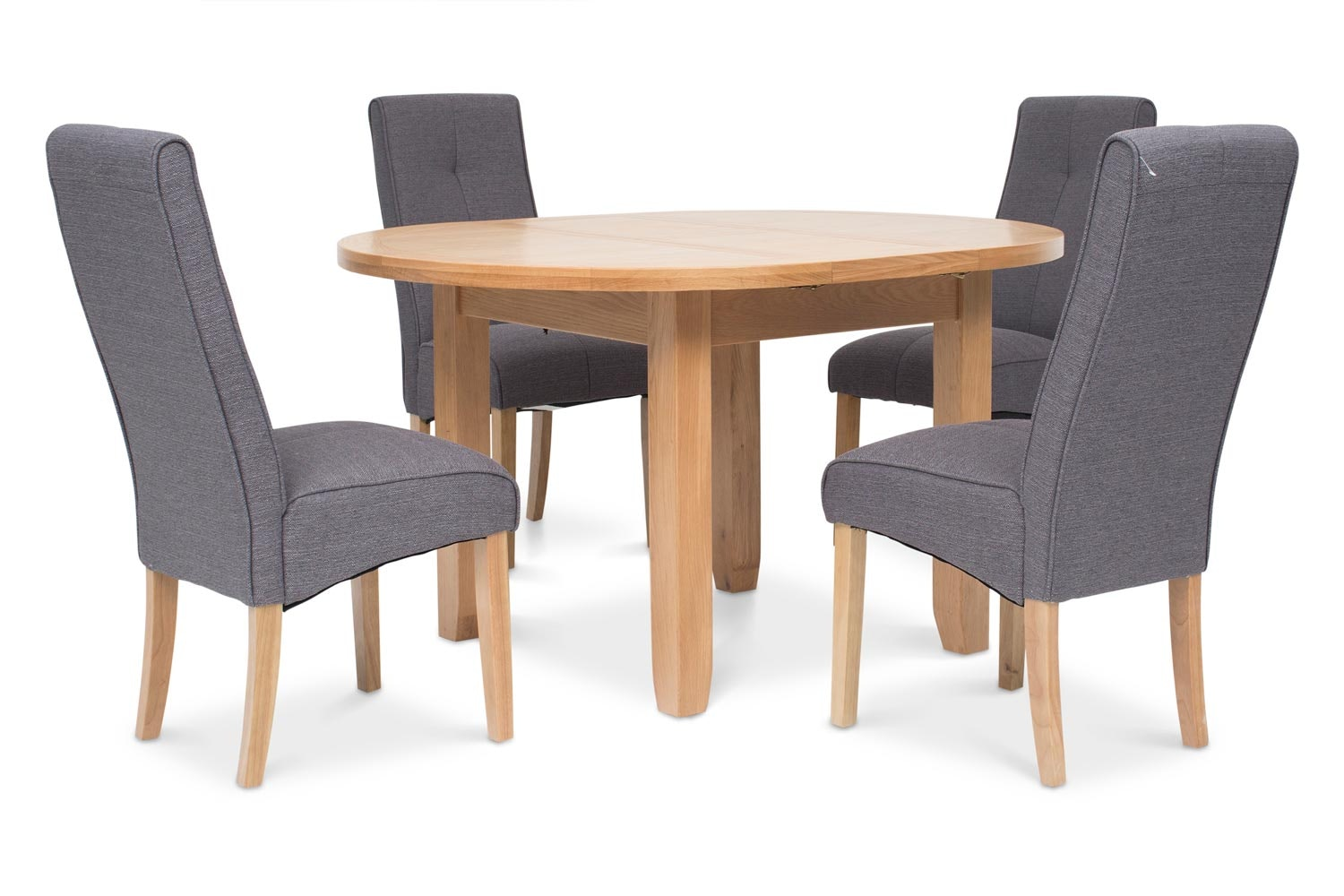 Hillary 5 Piece Dining Set | Mabel Chair Dark Grey