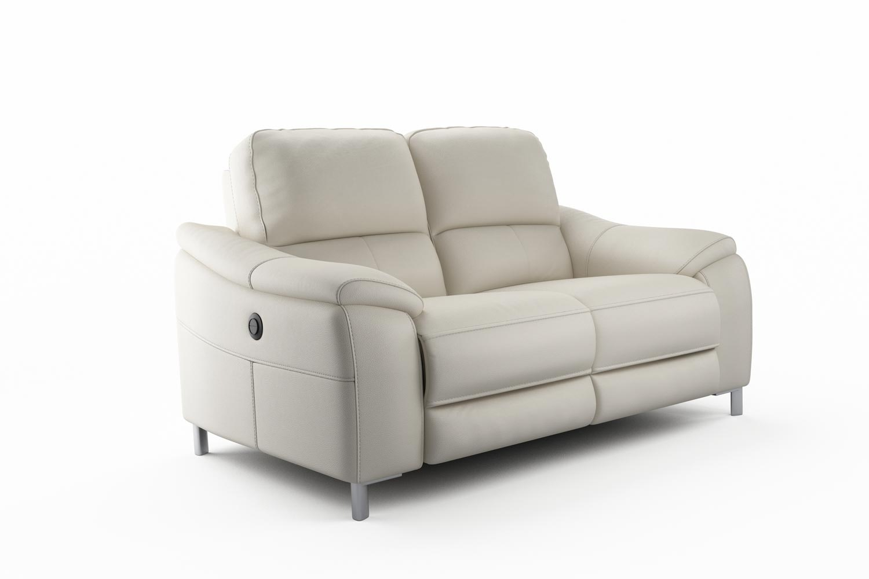 yvezza 2 seater electric recliner sofa  grey ... ERBKYEM0