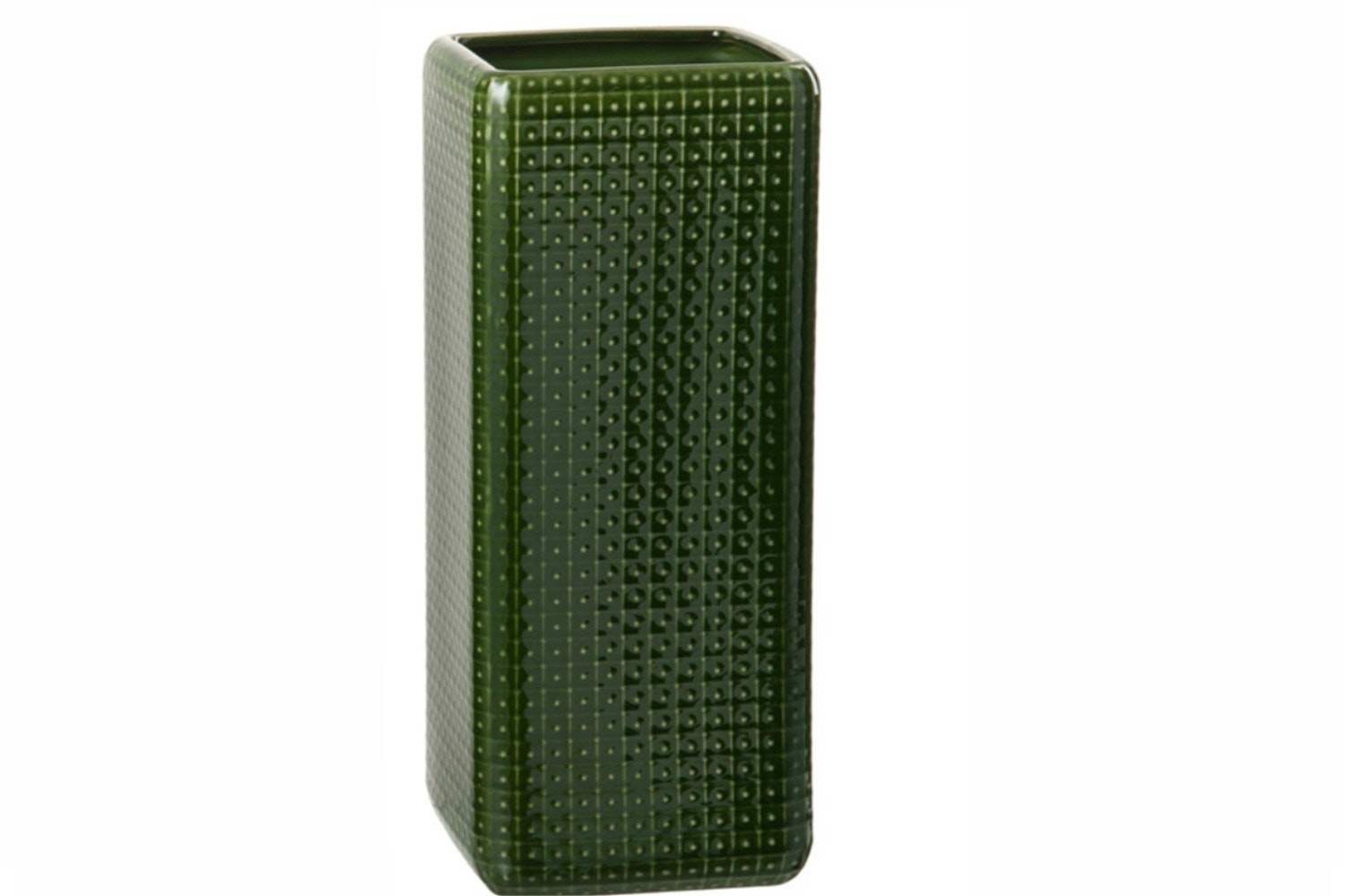 Green Square Ceramic Vase