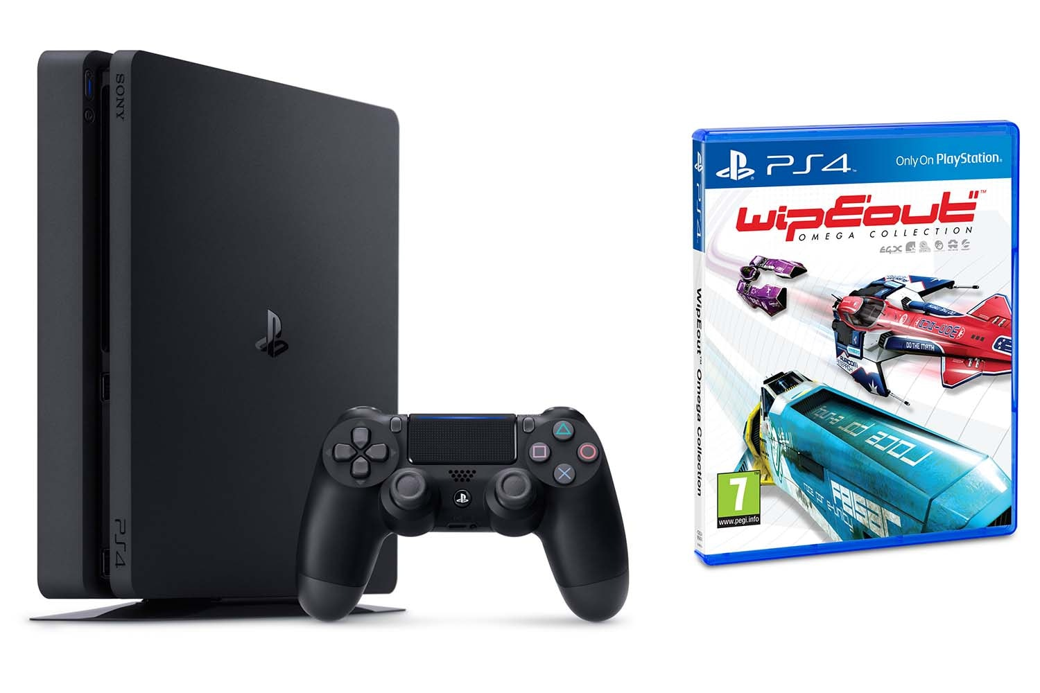PS4 1TB Slim | Wipeout Omega Collection Bundle