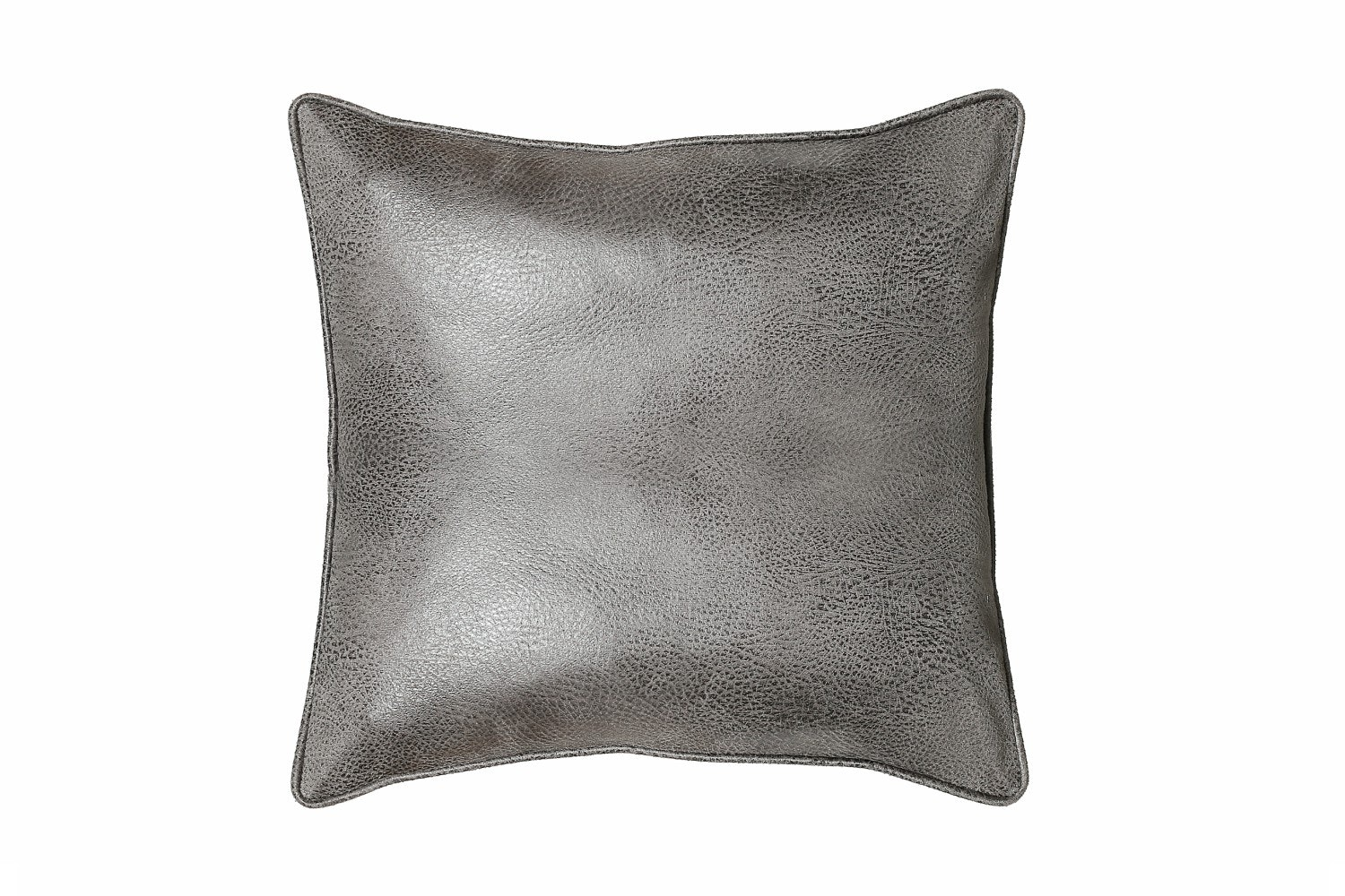 Tap Beluga Faux Leather Cushion