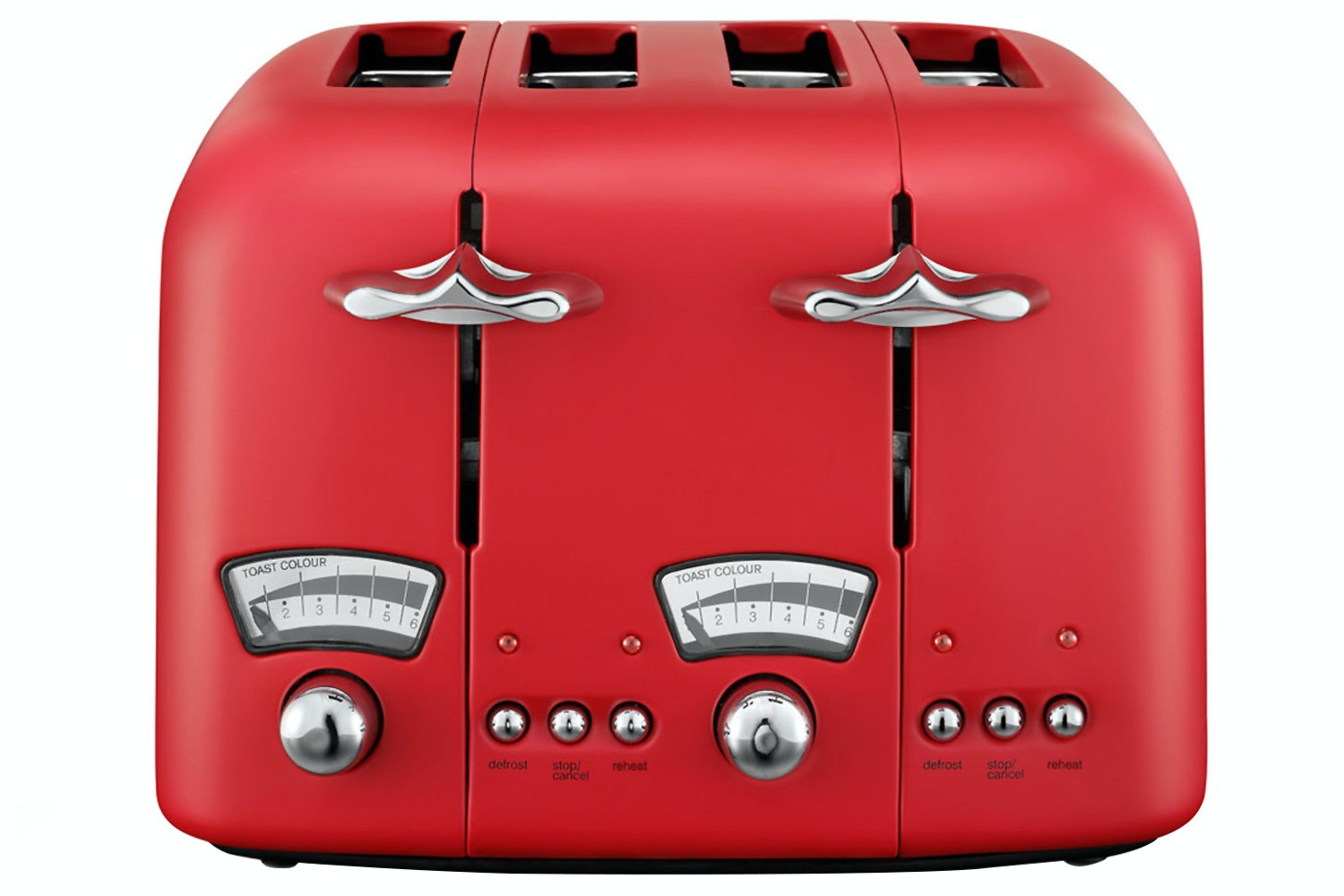 Delonghi Argento Red 4 Slice Toaster