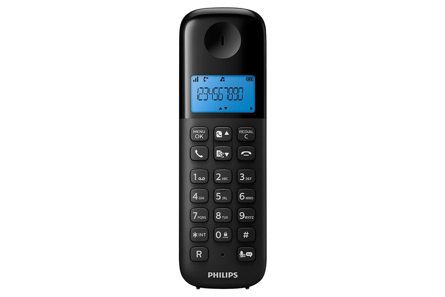 Philips Single Pack Cordless Phone Black | D1351B/05
