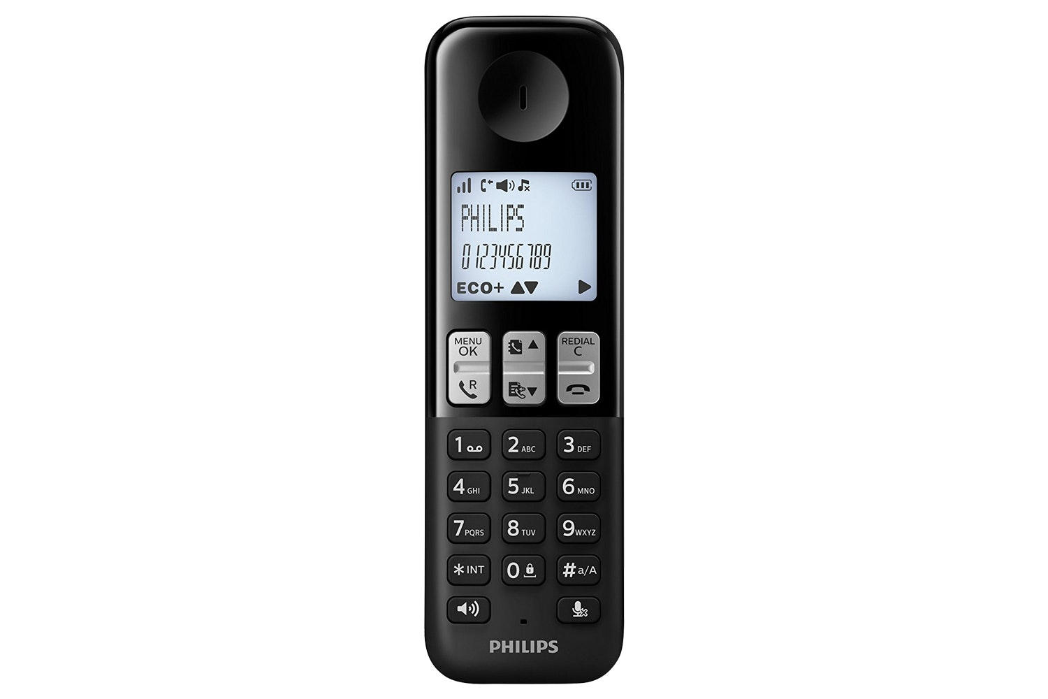 Philips Single Pack Cordless Phone Black | D2351B/05