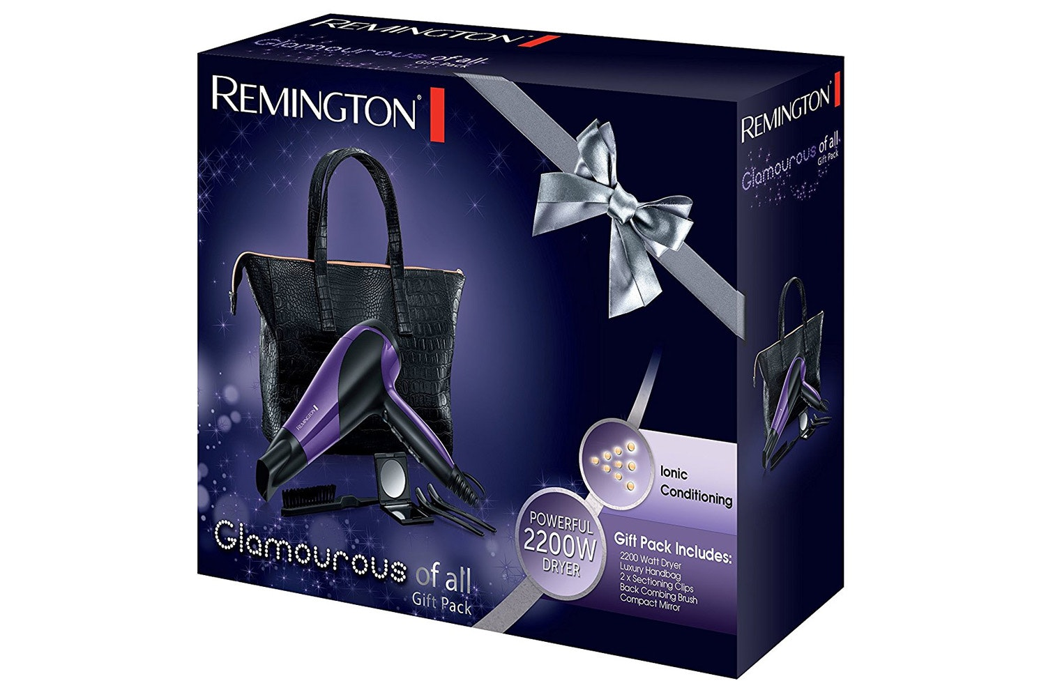 Remington Glamorous 2200W Hair Dryer Gift Set | D3192GP