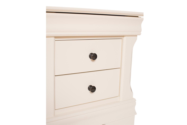 Chantelle 3 Drawer Bedside Locker | Creme