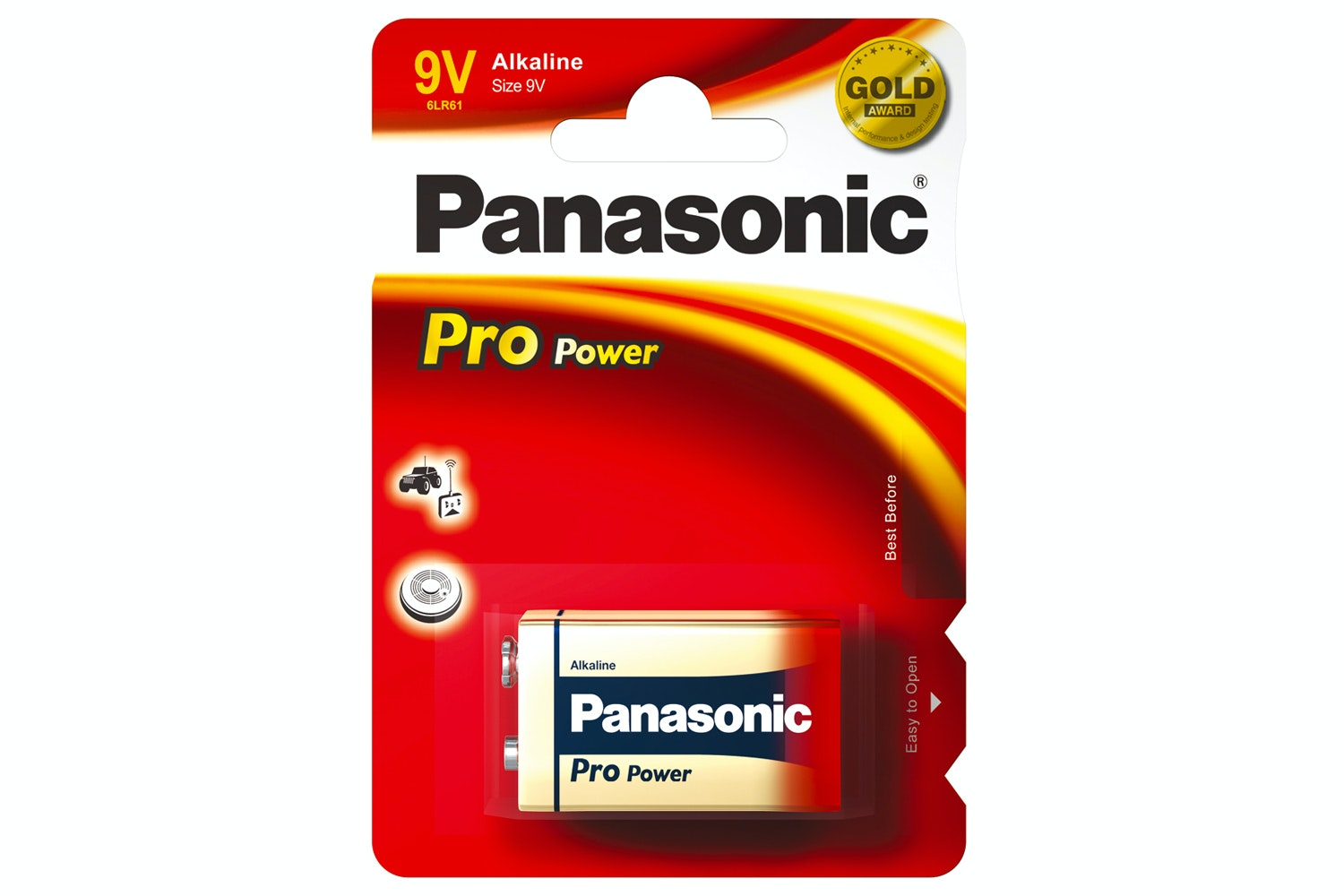 Panasonic Pro Power Gold Batteries | L6LR61X/1BP