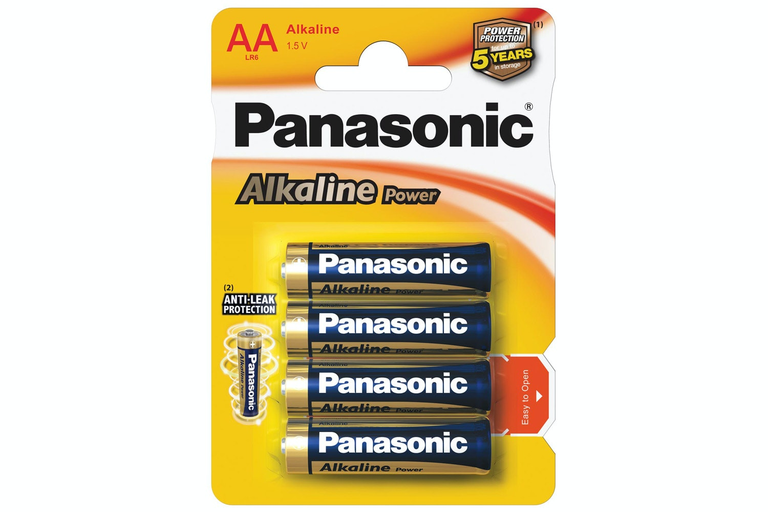 Panasonic Bronze AA 4 Pack Batteries