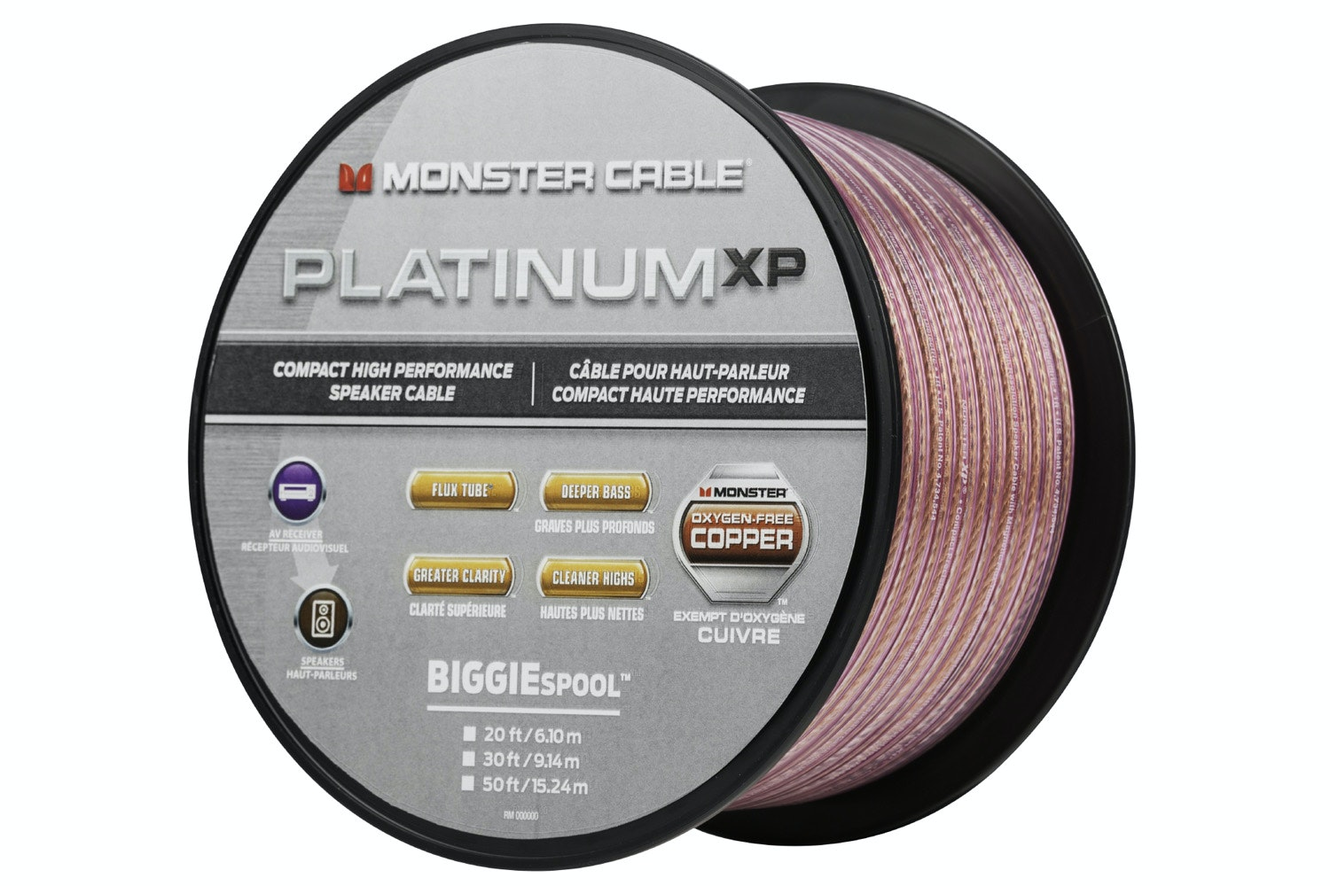 Monster Platinum XP Clear Jacket MKIII 20' Compact Speaker Cable