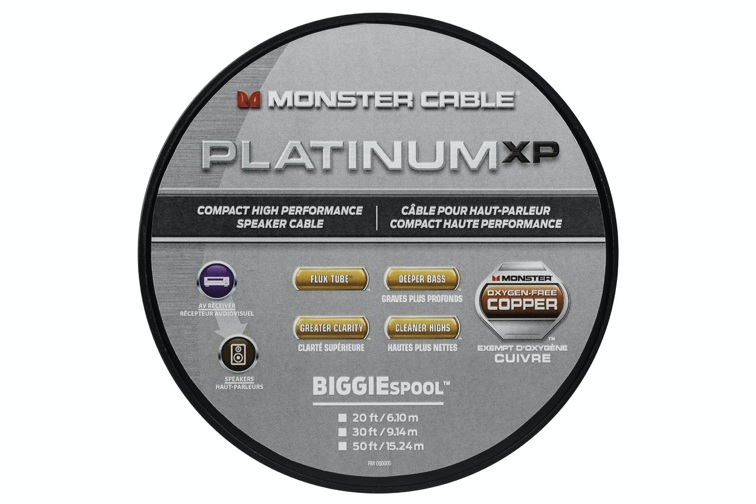 Monster Platinum XP Clear Jacket MKIII 50' Compact Speaker Cable
