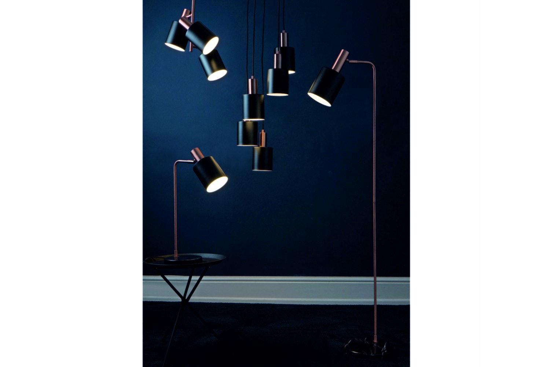 Black & Antique Copper Task Table Lamp