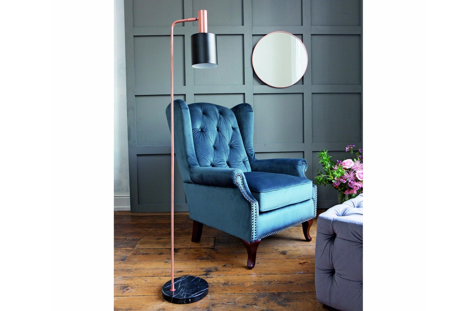 Harriot Accent Chair   Grey