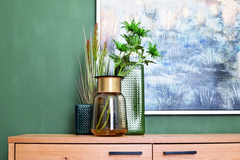 Vase Wide Glass | Amber