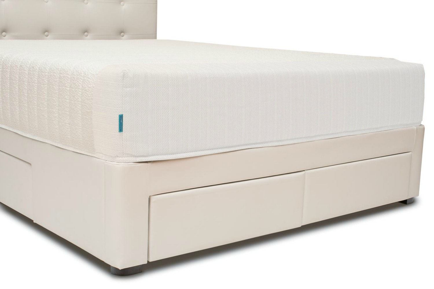 Duval Bed | Scroll Top with Storage | White | 5ft