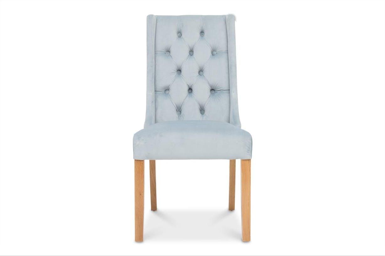 Elsa Dining Chair Oak Leg Blue Velvet Ireland