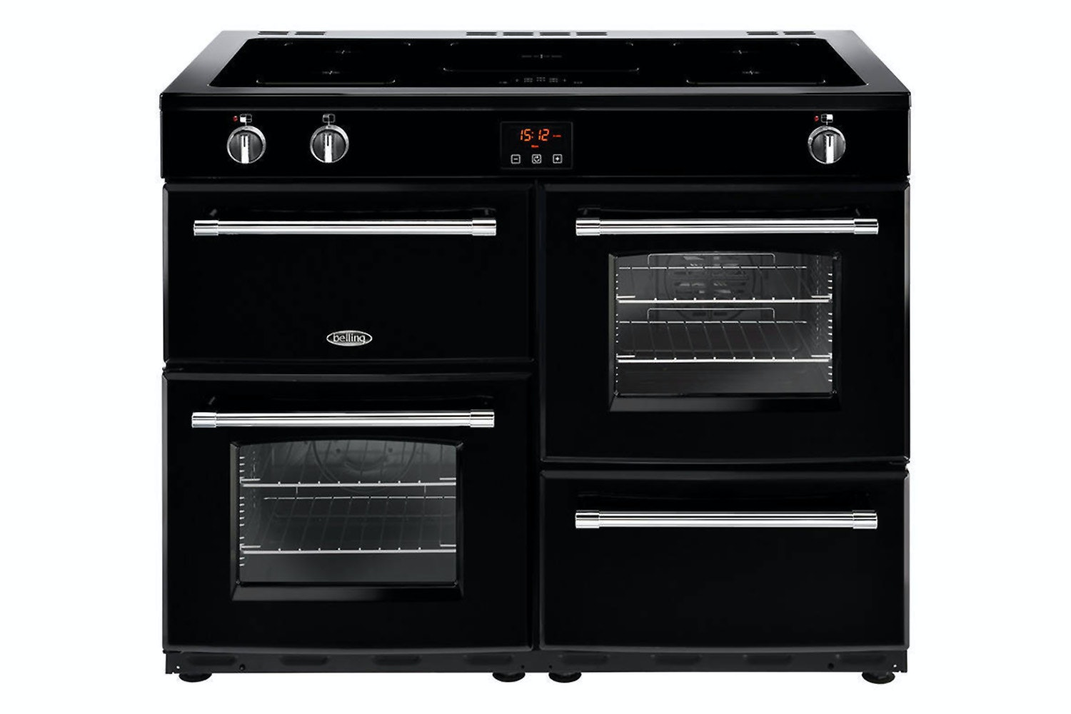 Belling Farmhouse 110cm Induction Range Cooker | FH110EIBLK | Black