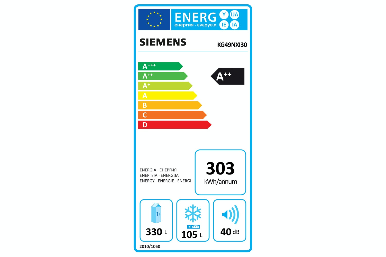Siemens Frost Free Fridge Freezer | KG49NXI30