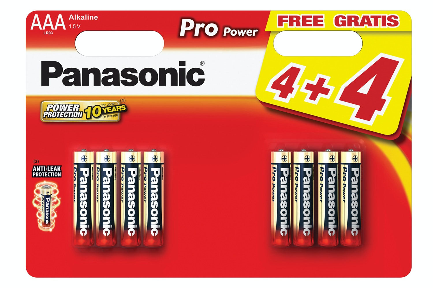 Panasonic PP Gold AAA Batteries | 4+4 Free