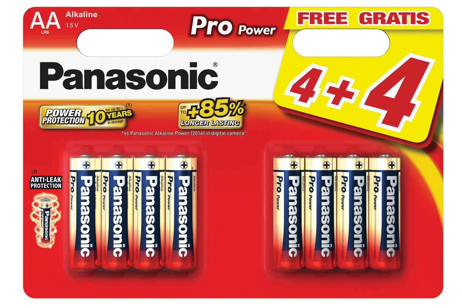 Panasonic PP Gold AA Power Batteries | LR6X/8WB
