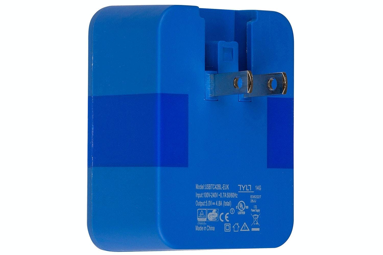 TYLT 4.8A Wall Power Adapter Blue | USBTC42BL-EUK