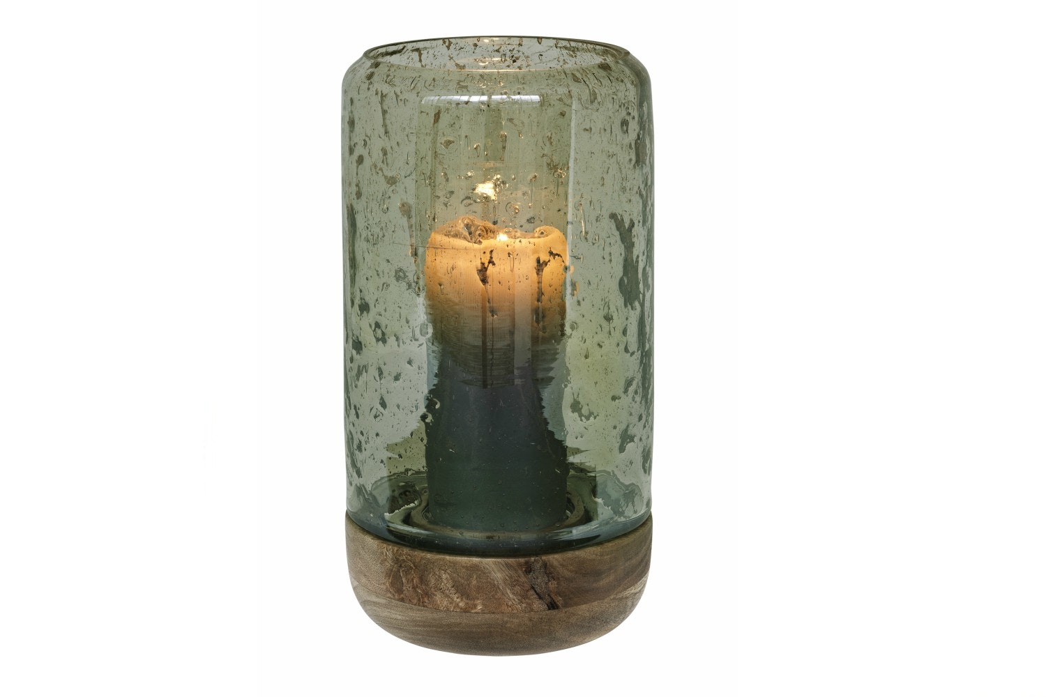 Luster Glass Hurricane | Moss | Tall