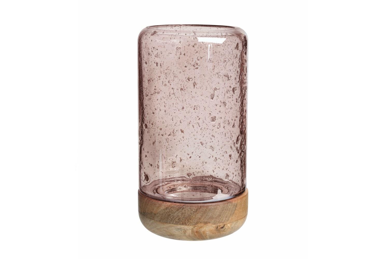 Luster Glass Hurricane | Rose | Tall