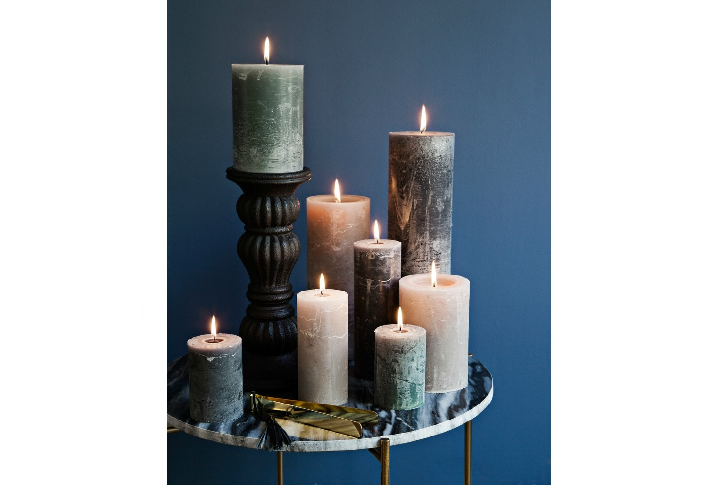 Candle   7 X 20   Dusty Rose