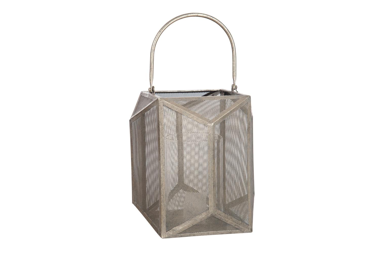 Lantern Polygon Metal Grey | Small