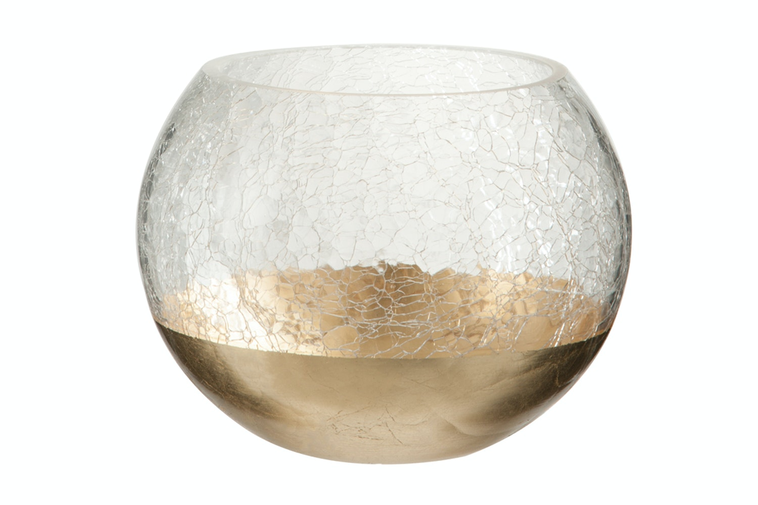 Cracked Effect Ball Hurricane With Gold Dip Large
