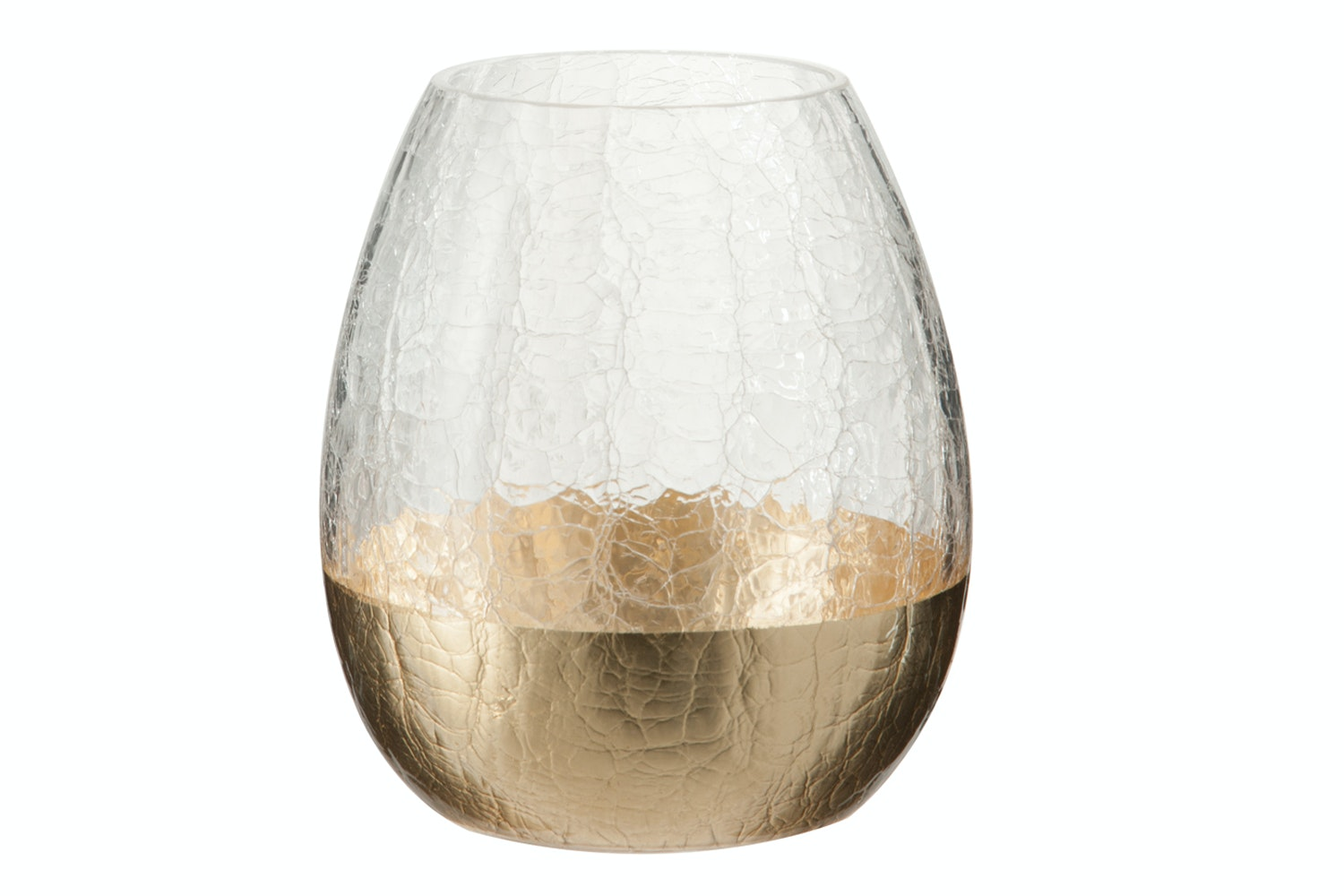 Cracked Effect Hurricane With Gold Dip | Small