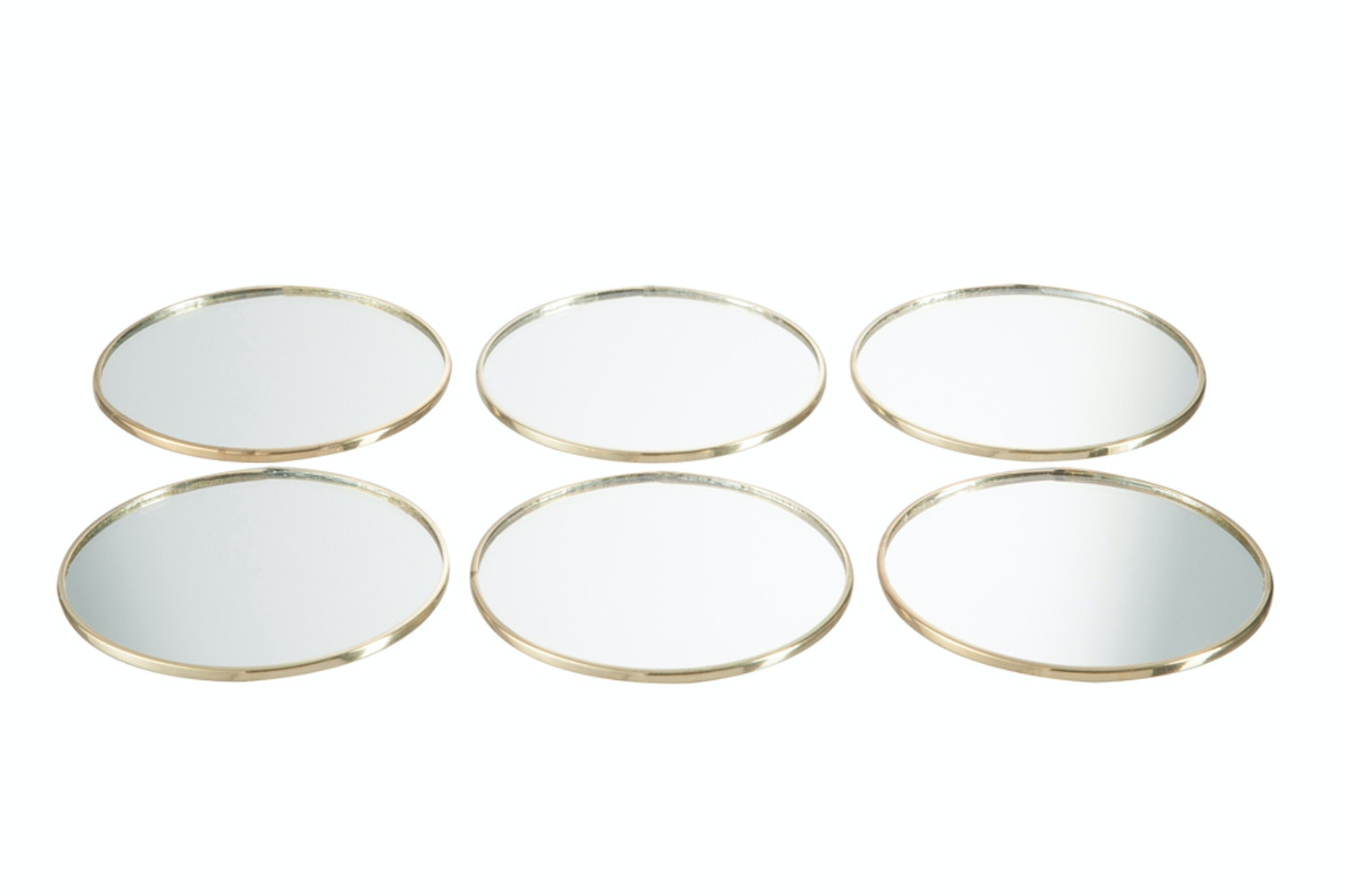 Assorted Glass Coasters In Round And Square Metal Frame