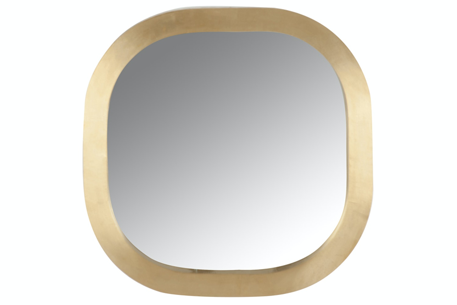 Mirror With Wooden Gold Frame