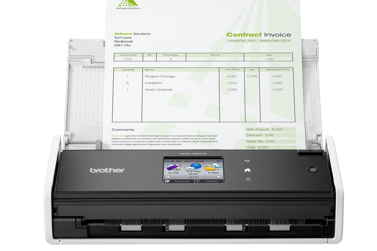 Brother Wireless Mobile Document Scanner