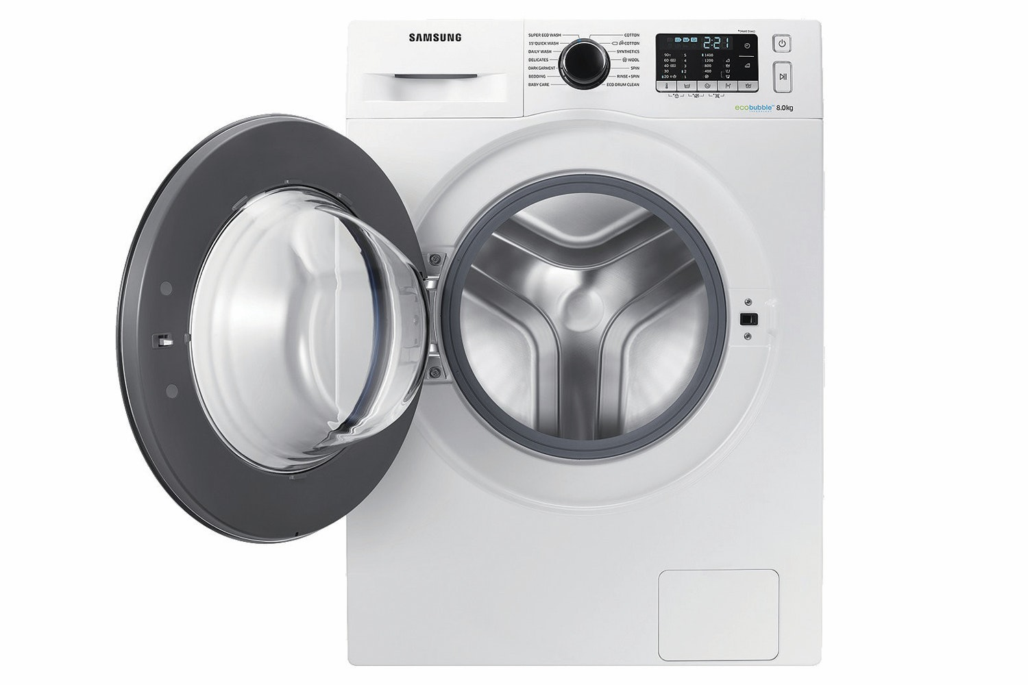 Samsung 8kg Ecobubble™ Washing Machine | WW80J5555FW/EU