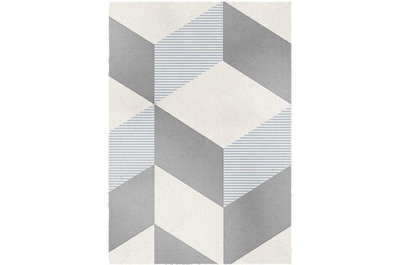 Alberta Rug 160X230Cm   Grey Blocks