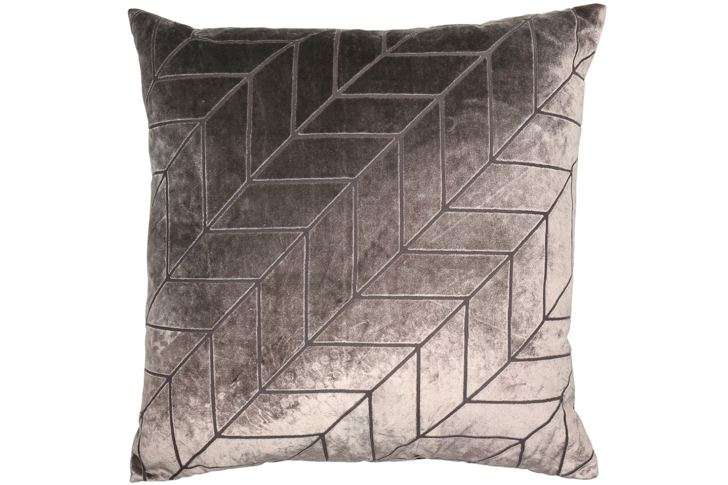 Cut Velvet Chevrons Medium Cushion