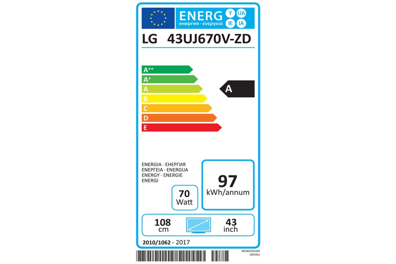 "LG 43"" 4K Ultra HD LED TV | 43UJ670V"