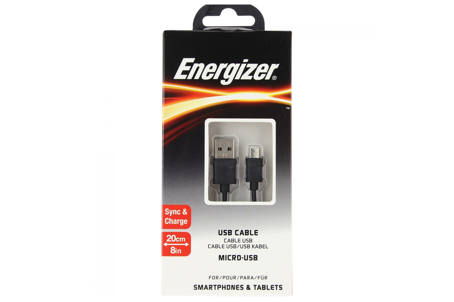 Energizer 1.2m Micro USB Cable | Black